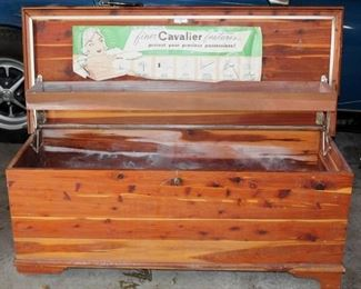 Vintage Cedar Hope Chest, Needs Repair