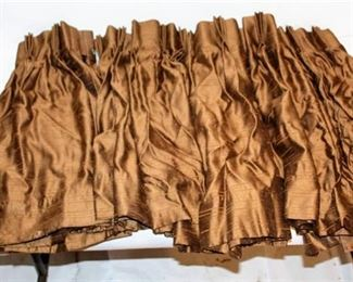 "Lot of 4 Nice Brown Curtains 27"" Long x 43"" Wide"