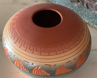 Benally Navajo Etched Pottery #3
