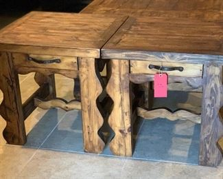 Rustic Mexico  End Tables	24x24x24in	HxWxD