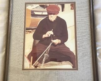 Framed photograph of Fisherman	22.5x19