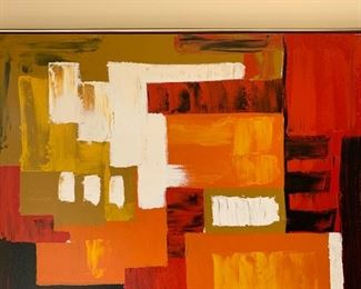 *Original* MId-Century Abstract painting Le Mark Artist	37x37in