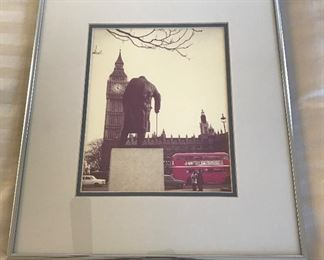 Framed photograph of the Big Ben London Clock Tower	16x14