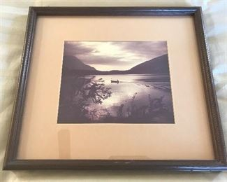 Framed Scenic Photograph	15x17