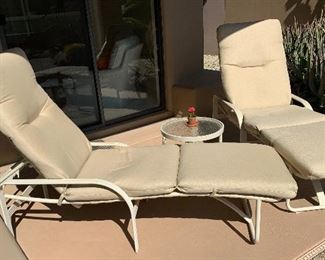 Outdoor Patio Lounge Chair #1		 Outdoor Patio Lounge Chair #2		 Outdoor Patio Lounge Side Table