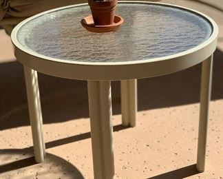Outdoor Patio Lounge Side Table