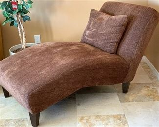 Fabric Chaise Lounge Chair	37x35x66in	HxWxD