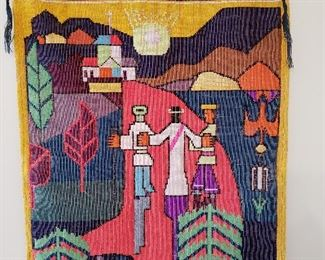 Beautifully hand-woven South American wall hanging