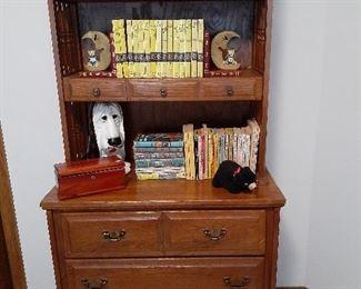 Vintage 2-piece teen bedroom set, chest/bookcase shown
