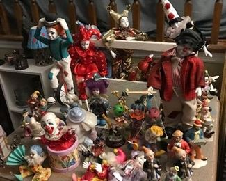 Clowns and gesture dolls. If you like clowns, you are sure to find one you like here.