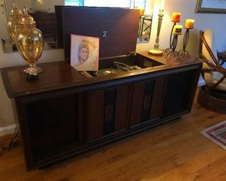 large 70s stereo console