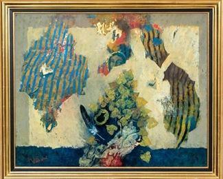 Shraga Weil (B. Slovakia 1918 - Israel 2009) Oil On Canvas