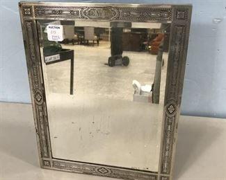 Vintage Sterling Framed Dresser Mirror