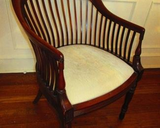 Antique Mahogany Spindle-back Club Chair
