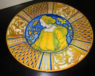 Large Faience Charger by Cantagalli, 19th c.