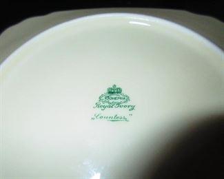 "Mark on Verso Bohemia Royal Ivory ""Countess"" Luncheon Plates"