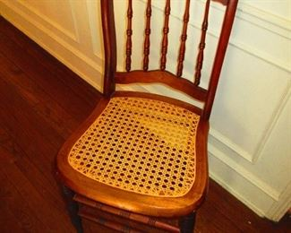 19th c. Caned Seat Chair