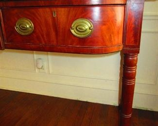 Detail of Early 19th. c, English Server in Mahogany