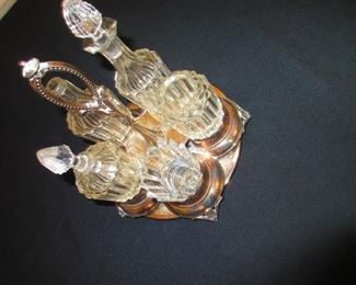 Diminutive Victorian Caster Set in Sterling and Crystal
