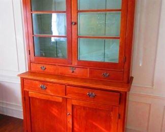 Cherry Two-Part Cabinet, Ohio, ca. 1850's-1870's