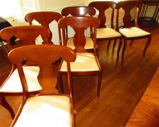 Group of Cherry Empire Style Chairs