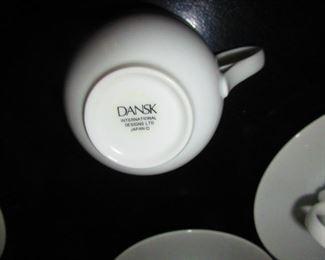 Mark on Dansk Cups & Saucers