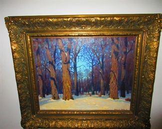 Framed Painting by Willard Allen, American 1860-1933