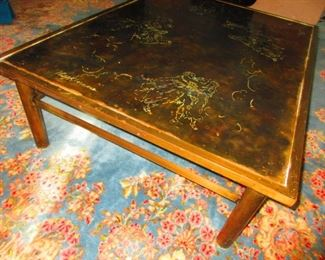 Detail of Etched Bronze Zodiac Coffee Table by Philip and Kelvin La Verne, 1960-1965