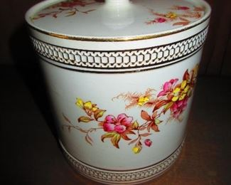 J.H.W. & Sons English Lidded Biscuit Jar