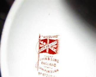 Mark on J.H.W. & Sons English Lidded Biscuit Jar