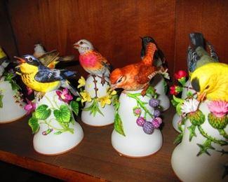 Porcelain Bird Bells