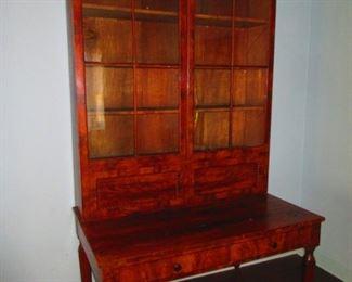 American Empire Plantation Desk in Mahogany, First Quarter of 19th c.