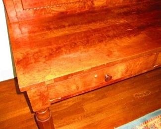 Detail of American Empire Plantation Desk in Mahogany, First Quarter of 19th c.