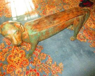 Bronze Hound Bench