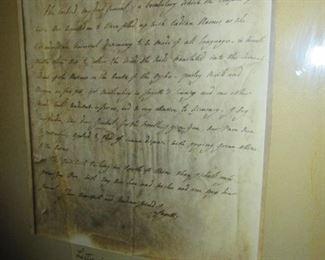 Copy of George Washington Letter