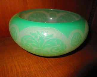 Steuben Acid-cut Cameo Bowl in the Style of Chinese pre-1932