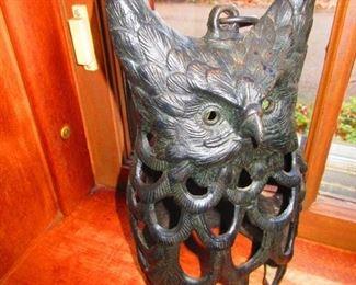 Iron Owl Lantern