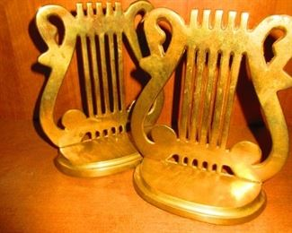 Lyre Bookends