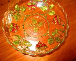 Victorian Enameled Strawberry Dish