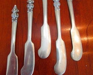 Group of Silver Butter Knives