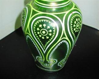 Antique Enameled Vase