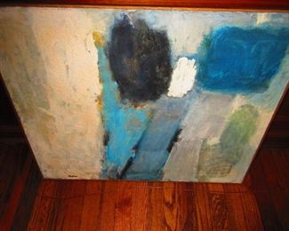 """Abstract Oil on Canvass by Winston McGee """"Blue Estate"""""""
