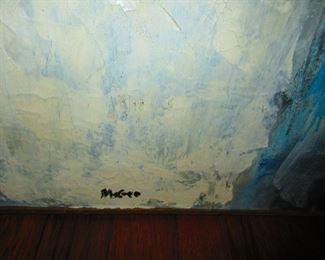 "Signature on Winston McGee ""Blue Estate"""