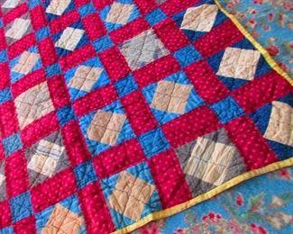 Detail of Antique Handmade Quilt