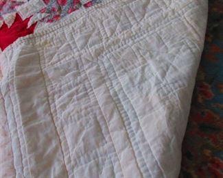 Verso of Vintage Handmade Quilt