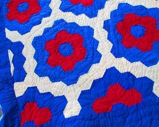 Detail of Vintage Handmade Quilt