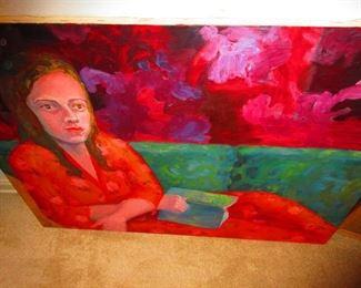 "Painting ""Edgar Allen Poe"" by: Kathryn Schloss"