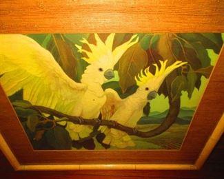 Art Deco Print of Cockatoo's