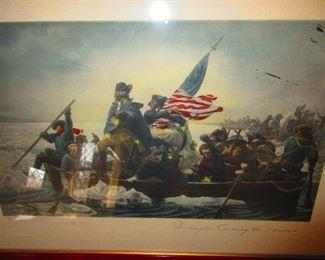 Washington Crossing the Delaware, by: Leutze