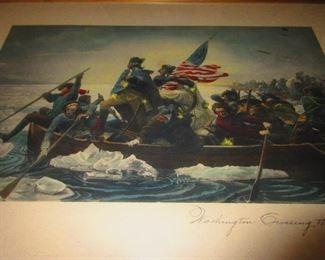 Washington Crossing the Delaware - by: Leutze